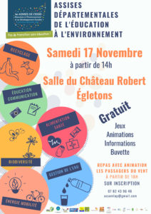 """Assises corréziennes de l'Éducation à l'Environnement """" Pas de Transition sans Éducation!"""" @ Salle du Chateau Robert"""