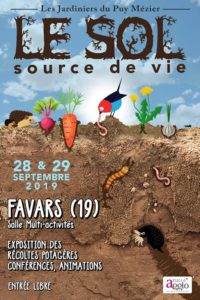 le sol, source de vie: exposition et conférences des Jardiniers du Puy Mézier @ salle multi-activités et esplanade à Favars (19)