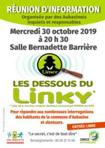 """""""les dessous du Linky"""" @ Aubazine, salle Bernadette Barrière (sous la mairie)"""