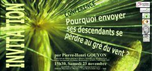 Conférence: Pourquoi envoyer ses descendants se perdre au gré du vent ? @ Tulle, amphi du Conseil Départemental de la Corrèze