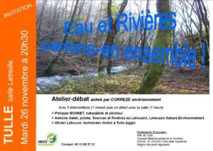 """""""Eau et Rivières : parlons-en ensemble !"""": atelier-débat @ salle latreille,  (derrière le théâtre)"""