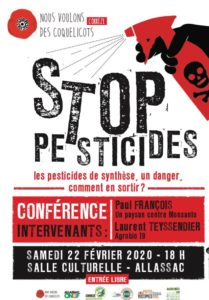 Conférence Stop Pesticide @ salle culturelle Allassac