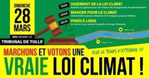 Marche pour le climat @ devant le tribunal de Tulle