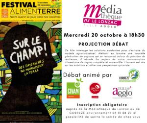Sur le champ ! projection-Débat @ Médiathèque du Lonzac ou Visio